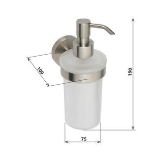X-STEEL Seifenspender 250ml, gebürsteter Edelstahl