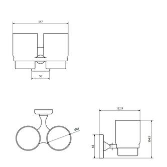 RUMBA Doppelglashalter, Milchglas