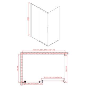 ALTIS LINE Duschtür 1500mm, Klarglas