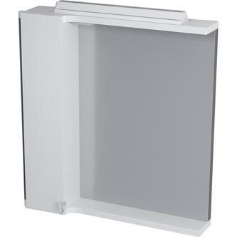 PULSE Spiegelschrank mit Halogenbeleuchtung 75x80x17 cm, links, weiß/Anthrazit