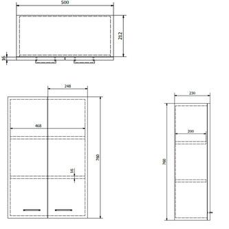 ZOJA/KERAMIA FRESH Oberschrank 50x76x23cm, weiß