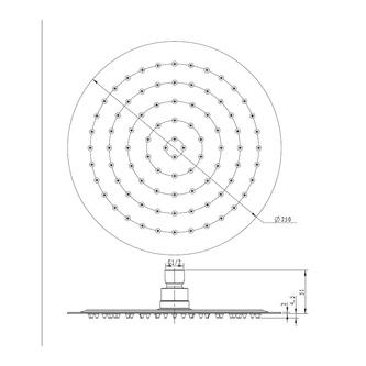 SLIM Kopfbrause, rund, Durchmesser 250mm, polierter Edelstahl