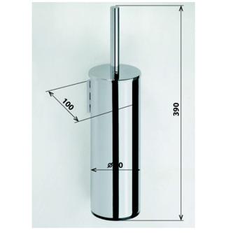 X-ROUND WC-Bürste, rund, zum Stellen/Einhängen, Chrom
