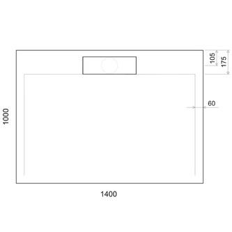 IRENA Duschwanne 140x100x3,5cm weiß