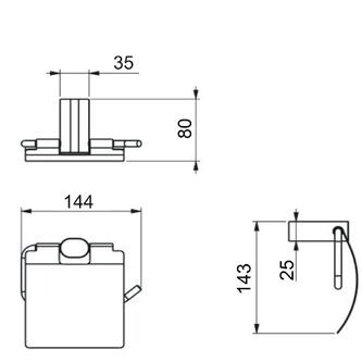 FLORI Toilettenpapierhalter mit Deckel, Chrom