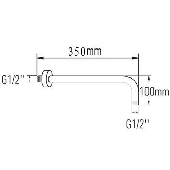 Duscharm 350mm, Roségold
