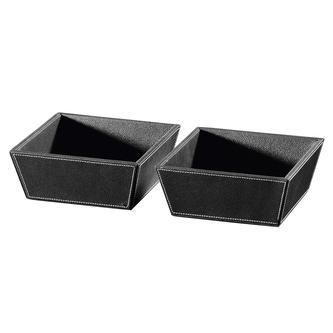 ECO PELLE Schalen 2Stk. 19,6x8x19,6cm, schwarz