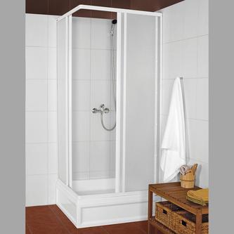 KNS Duschabtrennung Quadrat 800x800mm, weiß, Kunstglas