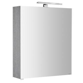 RIWA Spiegelschrank mit LED Bel., 50x70x17cm,berührungslos.Lichtsch.,Silbereiche