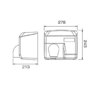 CATA elektronischer Handtrockner, Chrom matt