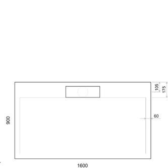 IRENA Duschwanne 160x90x3,5cm weiß