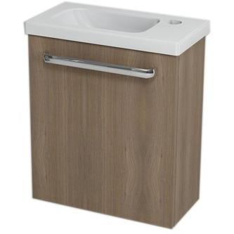 LATUS VII Unterschrank 43,2x50x21,2 cm, Farbe Nuss + Waschtisch RESORT 45cm