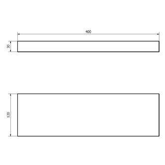 BRAND Ablage mit Halterung 40x3x12cm, Fichte gebeizt