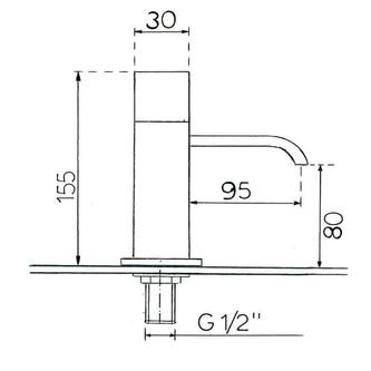 TRIUMPH Waschtischarmatur 160mm Chrom
