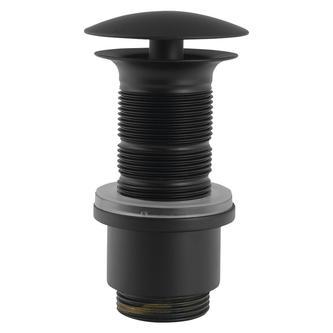 Nicht verschließbare Waschtisch-Ablaufgarnitur, V 65-85mm, schwarz matt
