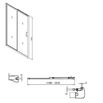 Sigma Rechteckige Duschkabine 1200x900mm L/R Variante,Brick