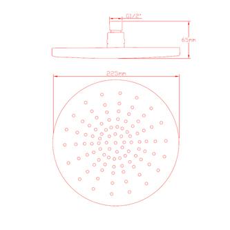 DANIELA Kopfbrause, Durchmesser 230mm, Chrom