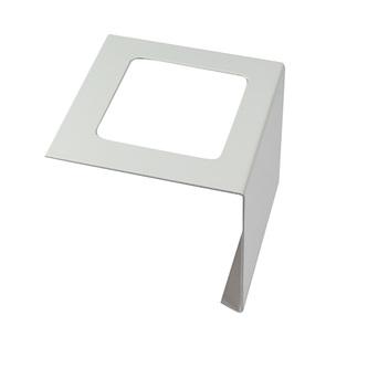 Verbinder/Eckstücke aus Aluminium, passend zum Balkonabdeckprofil Aluminium (FBA), grau, 55/75/95 mm hoch