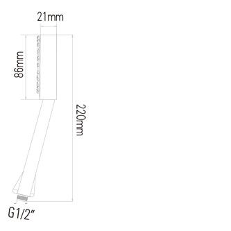 Handbrause, 1 Strahlart, Durchmesser 86mm, ABS/Chrom