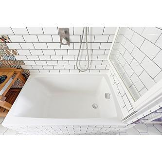 OLBIA Duschabtrennung 1230mm, Rahmen weiß, Klarglas