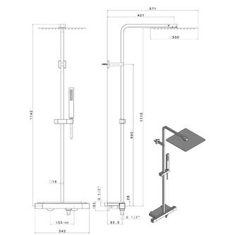 NOTOS Duschsäule mit Thermostat-Armatur, inkl. Seifenschale, Chrom