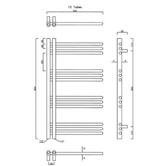 DORLION Heizkörper 500x900mm, Chrom