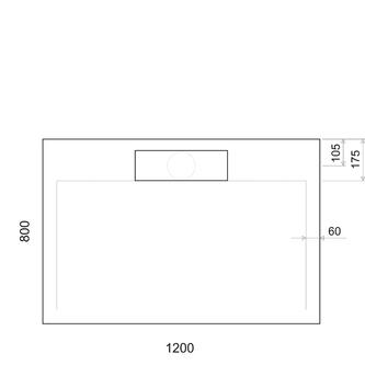 IRENA Duschwanne 120x80x3,5cm weiß
