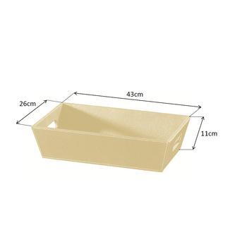 ECO PELLE Schale 43x11x26cm, creme