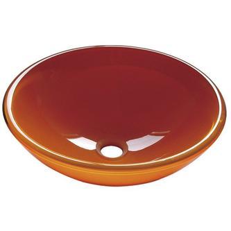 ORANGE Glaswaschtisch Durchmesser 42 cm
