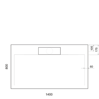 IRENA Duschwanne 140x80x3,5cm weiß