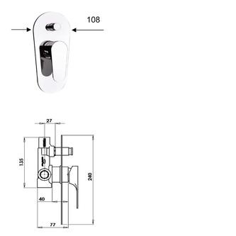 CORNELI Unterputz-Duscharmatur , 2 Wege, Chrom