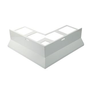 Eckstück, Aluminium, passend zum Balkonabdeckprofil Aluminium, grau, 88 mm hoch