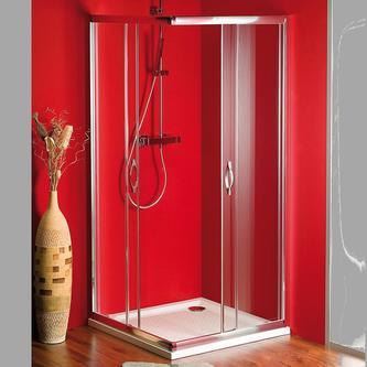 SIGMA Duschabtrennung Quadrat, 800x800mm, Glas Brick