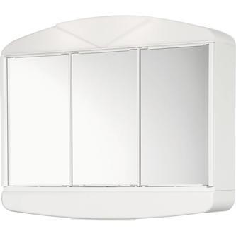 ARCADE Spiegelschrank 58x50x15cm, 2x14W, weiß Kunststoff