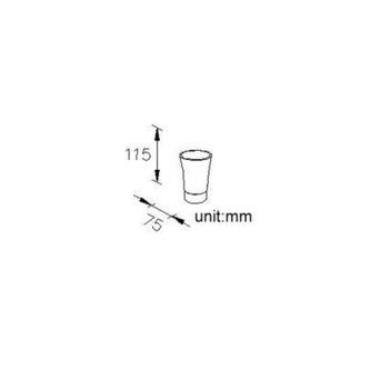 JUSTY 1 Glas zum Stellen, Keramik/Edelstahl