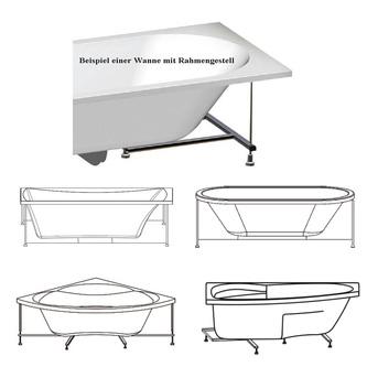 Rahmengestell zu Badewanne Evia 160 R
