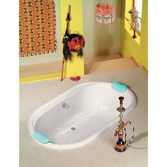 EOLA Ovale Badewanne mit Füßen 190x113x47cm, weiß