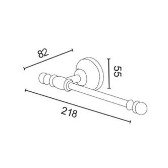 PERLA Toilettenpapierhalter ohne Deckel, Roségold