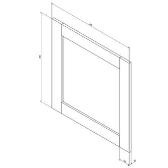BRAND Spiegel 80x80x2cm, Fichte gebeizt