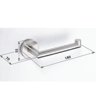 NEO Toilettenpapierhalter ohne Deckel, gebürsteter Edelstahl